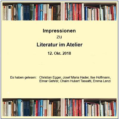 Literatur im Atelier 2018